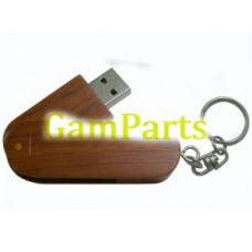 100% полную мощность USB-накопитель Твистер орех Материал ВД-U510