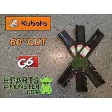 """Подробные сведения о (3) упаковка * Oregon G6 косилка лезвия для Kubota 60 """"ZG и ZD косилки-точный крой!- без перевода"""